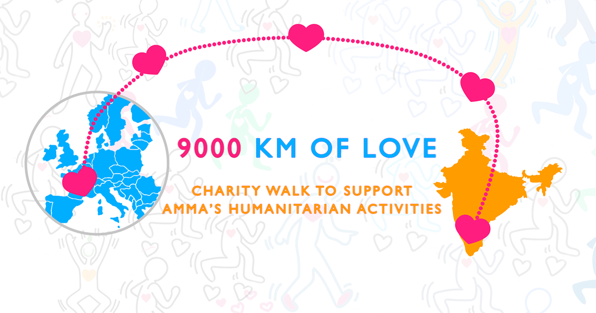 9000 kilometers of love charity walk