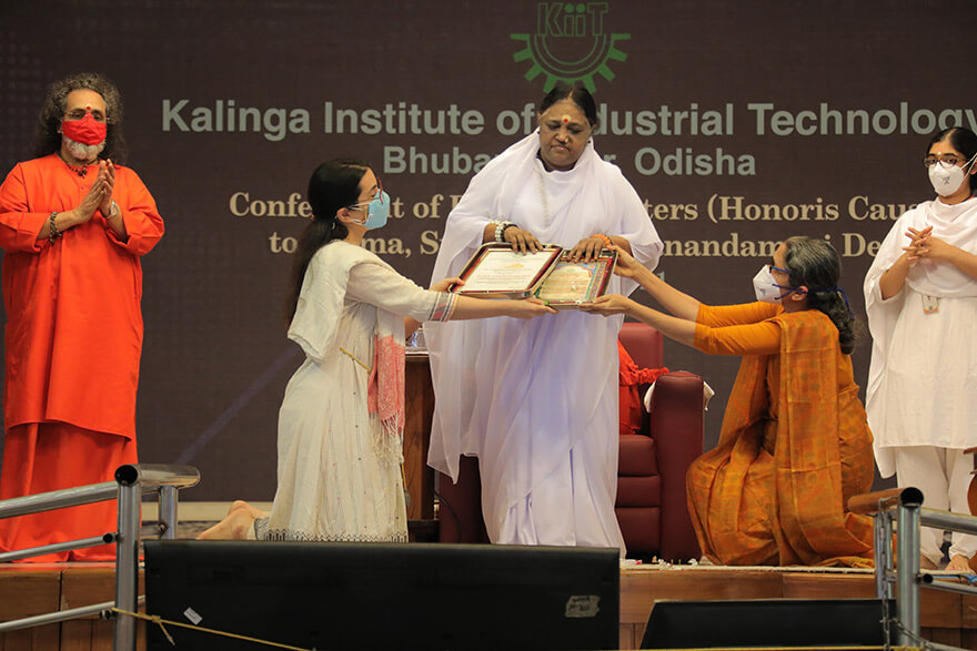 Amma receives third honorary doctorate degree
